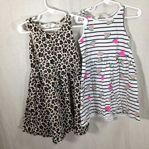 2 H&M Cotton Summer Dresses 4-5years